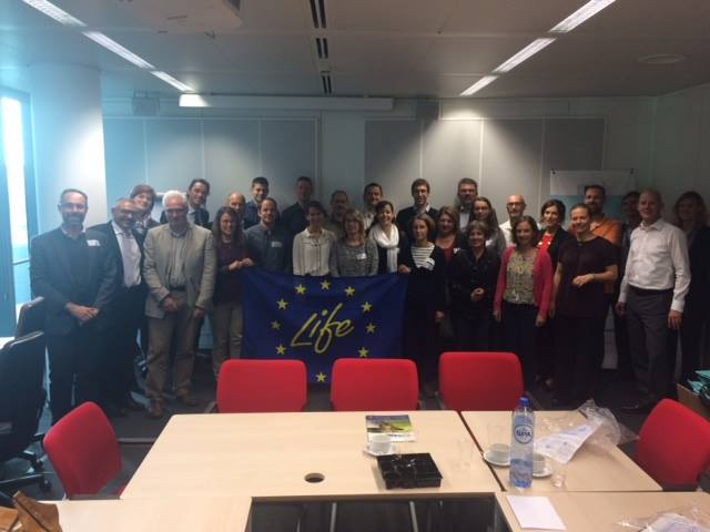 The launch meeting for the LIFE 2015 projects took place on 4 and 5 Octobre 2016 in Brussels.