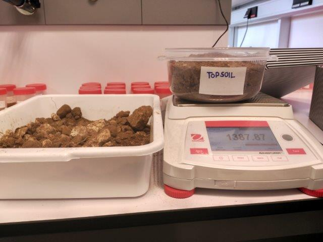 Después de coger las muestras, se analizará sus propiedades.