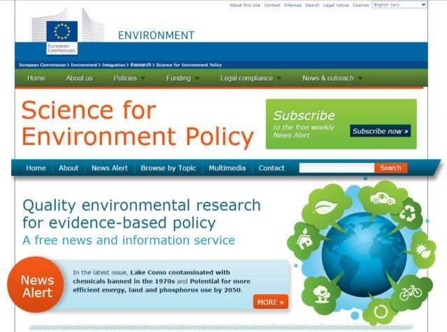 Informe de la Comisión Europea sobre el impacto del cambio climático a los servicios ecosistémicos