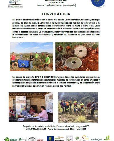 Invitación a jornada cooperación en Gran Canaria