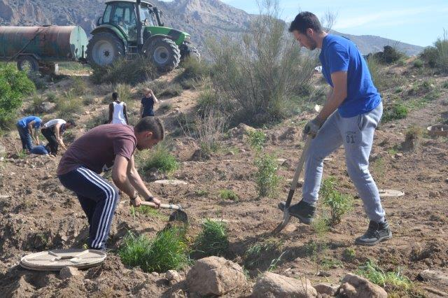 Professional education students from Almería took part in the plantation of more than 300 Tamariks, using the Cocoon.