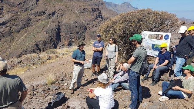 Salida de campo al área demostrativa en Canarias