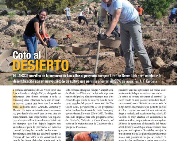 El proyecto como ejemplo para combatir la desertificación es presentado en la Revista Nova Ciencia