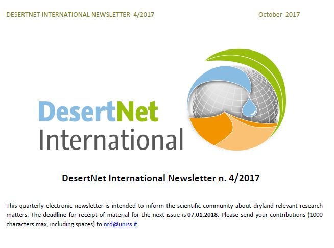 Summary about the project at DesertNet International