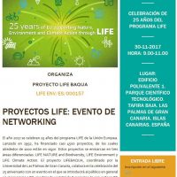 Invitation to the networking event in Gran Canarias organized by LIFE BAQUA
