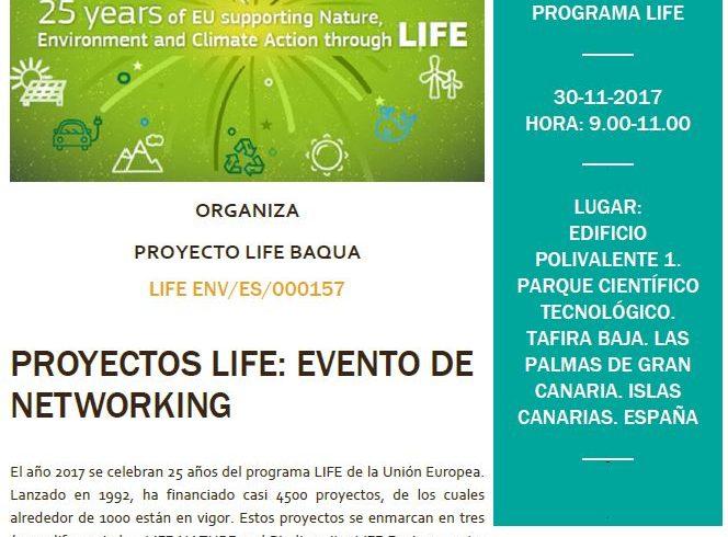 Invitación al evento de COOPERACIÓN en Gran Canarias por el proyecto BAQUA