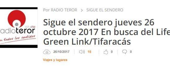 Entrevista en la Radio Teror de Gran Canaria