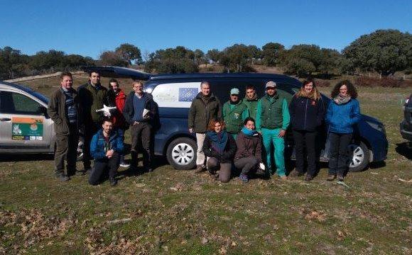 Visita de Land Life Company y Volterra a Campanarios de Azaba propiedad de la Fundación Naturaleza y Hombre