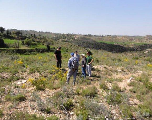 Visita de alumnos de la UAB a la zona restaurada en El Bruc