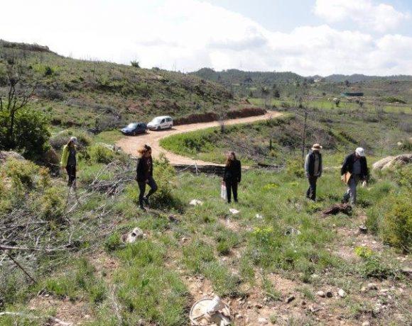 Nueva visita de alumnos de la UAB a la zona restaurada en El Bruc