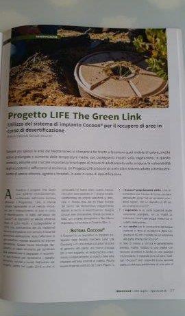 Artículo sobre The Green Link en la revista italiana Sherwood