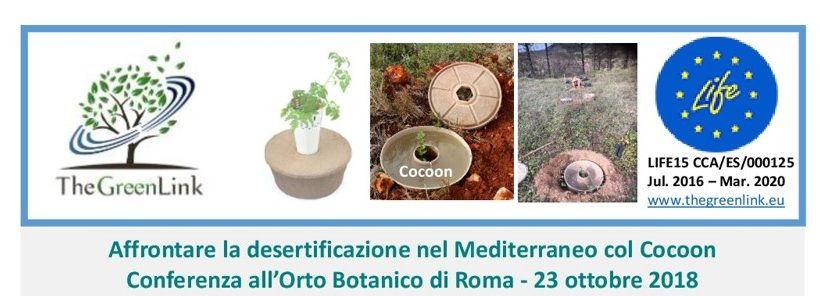 """Conferenza """" Affrontare la desertificazione nel Mediterraneo col Cocoon"""""""