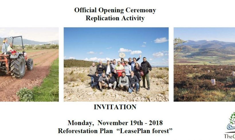 Invitation to the opening ceremony – replication activities