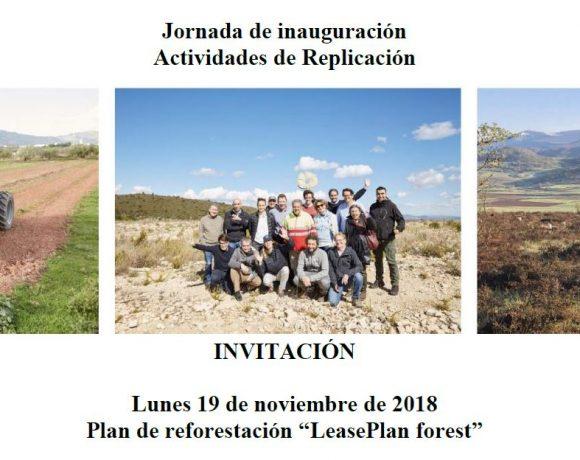 Invitación a la inauguración de un evento de replicación en Matamorisca