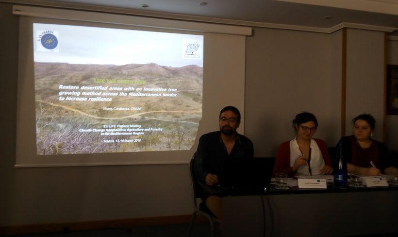 Participación en la reunión de la plataforma de proyectos LIFE en Madrid