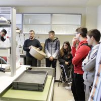 Students visit the project