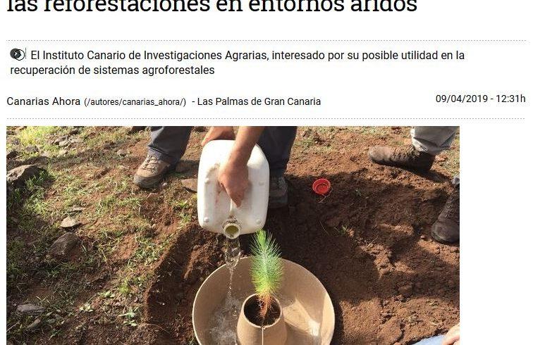 Un proyecto innovador desarrollado en Gran Canaria multiplica por tres la supervivencia de las reforestaciones en entornos áridos