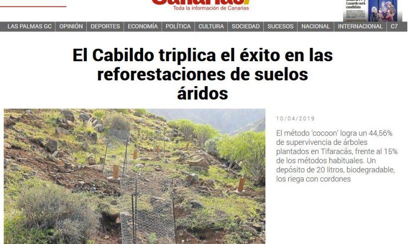 El Cabildo triplica el éxito en las reforestaciones de suelos áridos