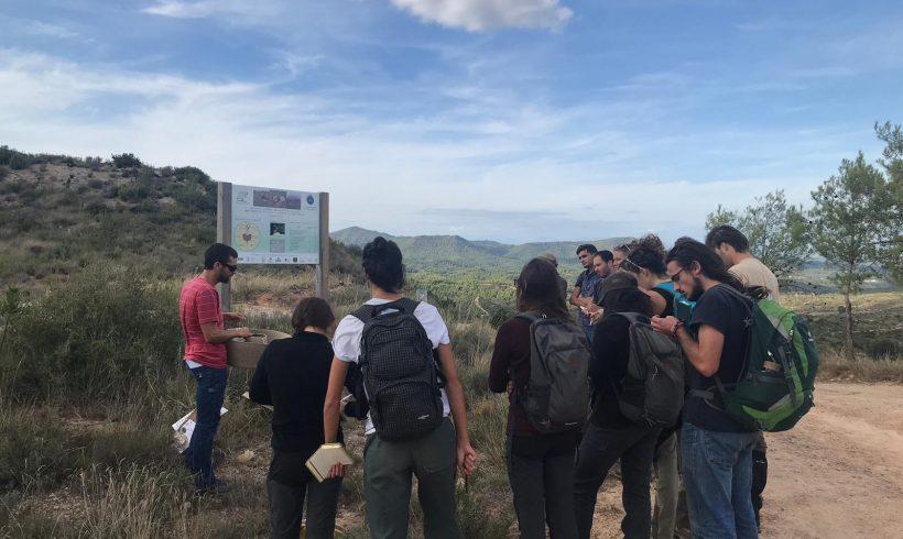Visita de los estudiantes del Máster en Gestión de Sistemas Naturales de AgroParisTech