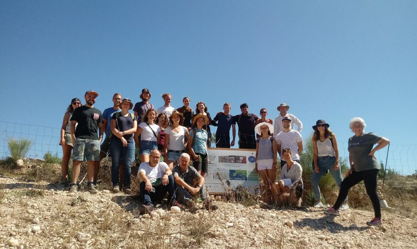 Visita de estudiantes de Máster al área demostrativa de Almería en Chirivel