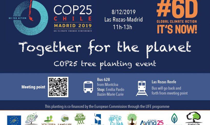 CONVOCATORIA plantación de árboles COP25 domingo 8 en Madrid