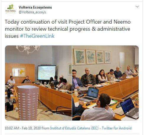Reunión con el Project Officer y la monitora Neemo