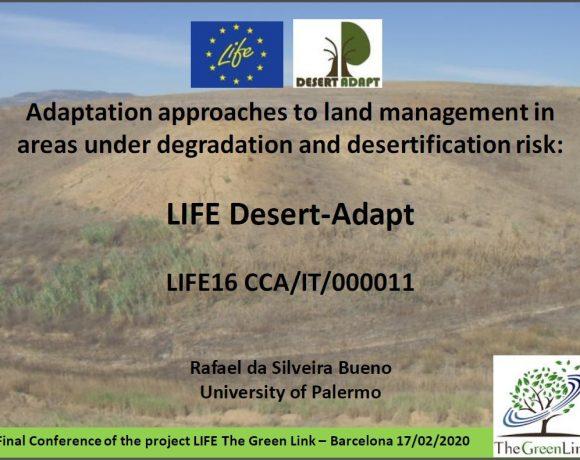 Trabajo en red con LIFE Desert-Adapt