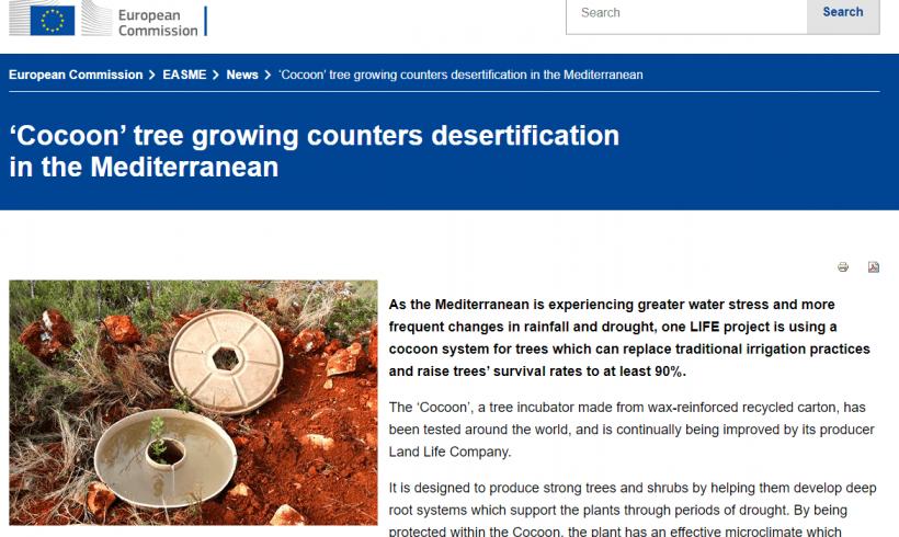 El Cocoon, una eco-tecnología para restaurar áreas desertificadas